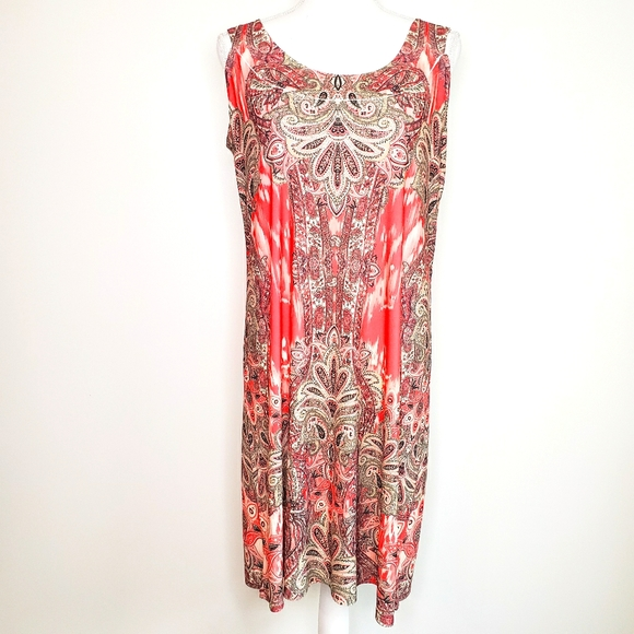 **3/$15** Carol Rose medium paisley dress